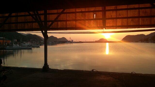須佐湾の夕陽