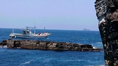 広島からのお客様、須佐湾遊覧船に乗船!!