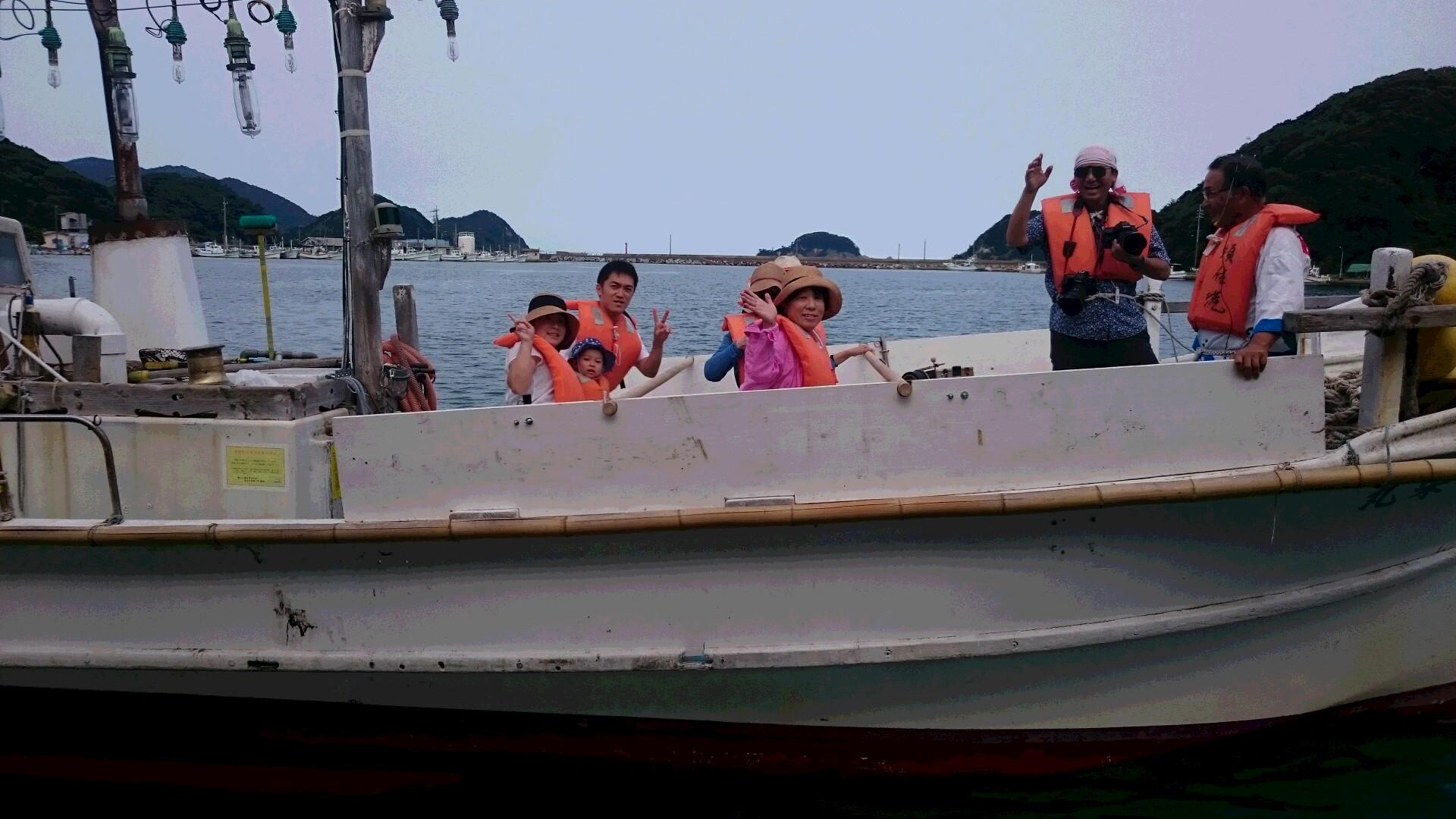 7月30日 須佐湾遊覧船、定時運航!!