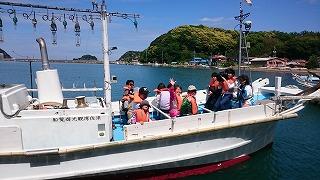 5月5日須佐湾遊覧船・・漁船で満喫!!