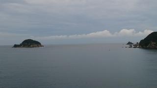 8月14日須佐湾遊覧船定時運航